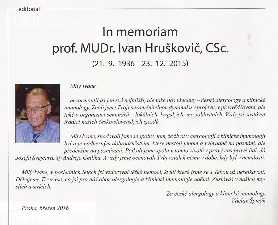 prof.MUDr.IvanHruškovič, CSc