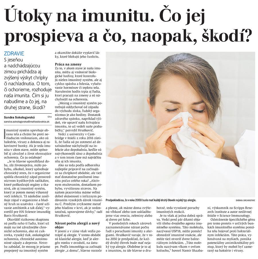 Útoky na imunitu. Čo jej prospieva a čo, naopak, škodí?